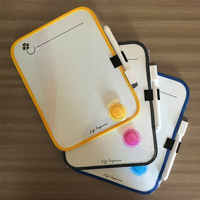 A5 MAGNETIC MEMO FRIDGE NOTICE WHITE BOARD DRY WIPE MARKER PEN HOLDER 16 x 21cm
