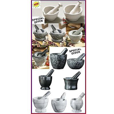 Mortar & Pestle Kitchen Grinder Crusher Traditional Different Designs New
