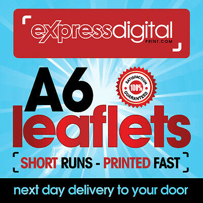 250 x A6 Colour Flyers Leaflets single sided 130gsm Printing Service - FREE P+P