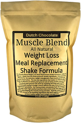 Muscle Blend All Natural Weight Loss Meal Replacement Shake Formula 3lbChocolate