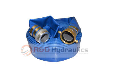 "3"" x 50 Ft. Blue Water Discharge Hose w/Pin Lug Fittings"