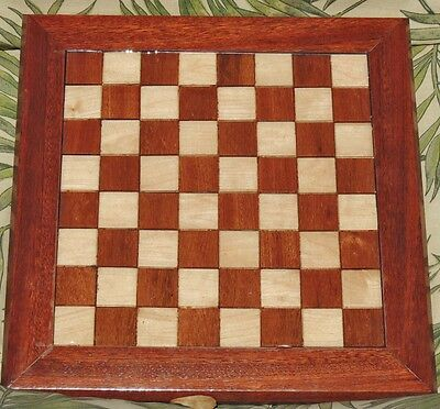 """FIT FOR A KING"" CHESS BOARD- #657---SOLID EXOTIC & DOMESTIC WOOD BOARDS- WPC-41"
