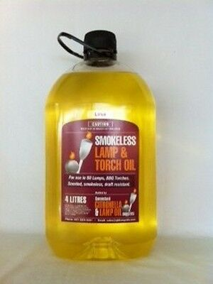 Lamp Oil  4 Litre Bottle - Coloured and Lightly Fragranced for Oil Lamps
