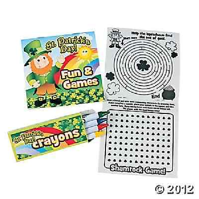 Activity Books With Crayons / LOT OF 12 SETS / ST PATRICKS DAY (33/312)