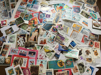 World Stamps Sorted Mixed Kiloware 500g Recent Vintage Worldwide COMMONWEALTH
