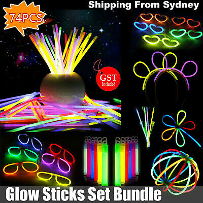 NEW Mix Glow Sticks Set Bundle Pack Bulk Party Christmas Glow in the dark Toys