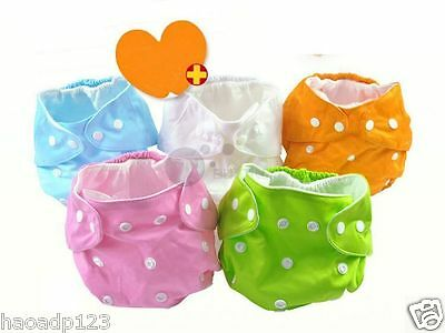 Adjustable 1 Size Reusable Washable Baby Cloth Diaper Nappy / insert/ safty pin