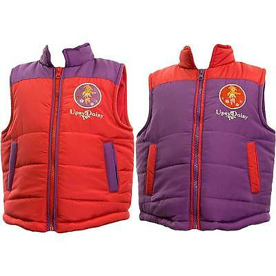 Girls In The Night Garden Upsy Daisy Padded Zip Up Bodywarmer Gilet Purple Red