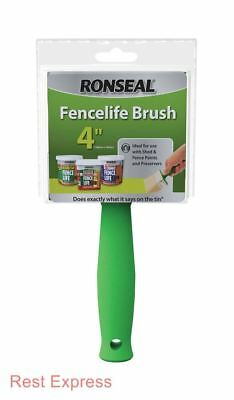 """Ronseal Fencelife The Big Brush 40mm x 100mm Decking, Fence & Shed 4"""" NEW!!!"""