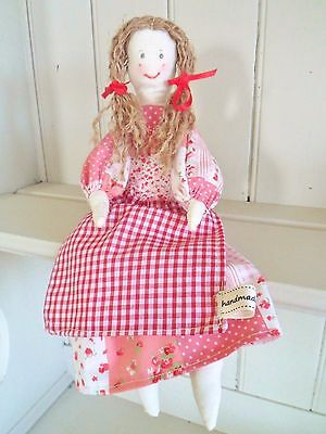 Rag Doll Craft Kit Patchwork Vintage Toy Sewing Kit Easy to Make /& Gorgeous!!