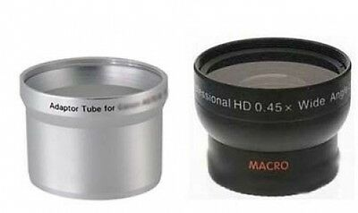 Wide Angle Lens + Tube Adapter bundle for Kodak EasyShare Z700 Digital Camera