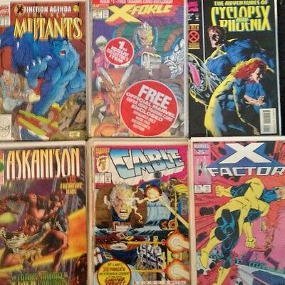 Marvel Comic Book Lot X-Men X-Factor X-Force New Mutants Cyclops Cable