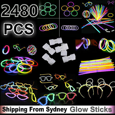 Glow Sticks Medium Set Bundle Pack Bulk Bracelet Led Toys Party Glow in the dark