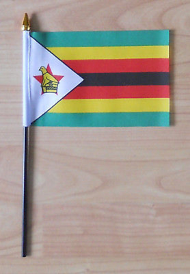 Zimbabwe Country Hand Flag - small