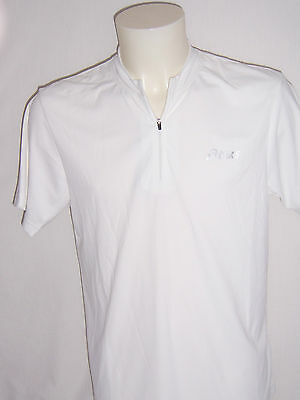 TEE SHIRT manches courtes Athlé - Running 1/2 Zip Asics taille L coloris blanc