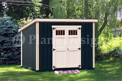 10x10 storage shed plans package blueprints material for Shed material list