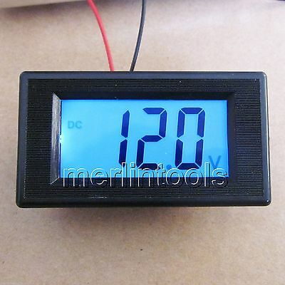 Mini Blue LCD Digital Volt Meter DC 7.5~30V For 9V 12V 24V
