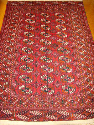 Persian Carpet Rug Genuine Turkoman Over 80Years Old Colectable Antique Rug Wool