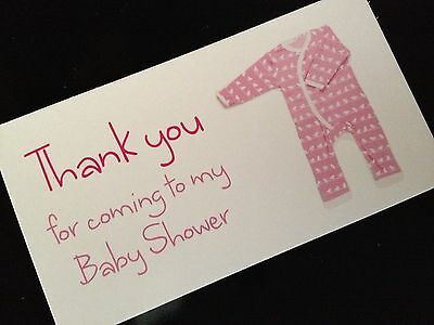 Favour Party Bag Luggage Tags Gift Guest Cards Thank you Baby Shower Girl Pink
