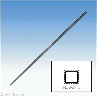 """GROBET-VALLORBE SWISS NEEDLE FILE SQUARE-16cm-6-1/4"""" Long-Cuts # 00-0-1-2-3-4-6"""