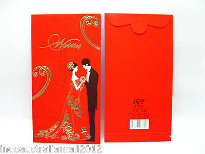 6 x Lucky Chinese Traditional  PREMIUM RED PACKET Envelopes Wedding(BAG-P36)