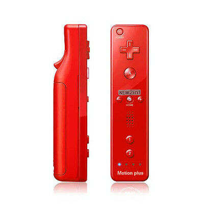 Red Wiimote Built in Motion Plus Inside Remote Controller For Nintendo wii Game