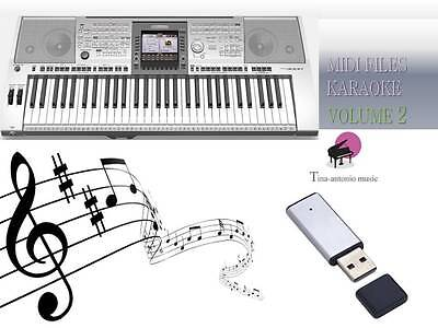 MIDI File Karaoke USB stick for PSR 3000 NEW Volume 2