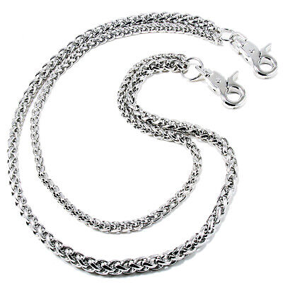 "Double Roof Durable Basic Biker Trucker Key Jean Wallet Chain (24"") Silver NCS68"