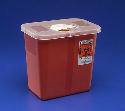 Sharps Disposable Biohazard Container, 2 Gallon, Red, #8970