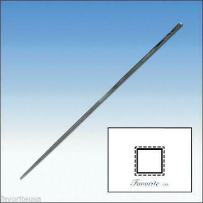 """GROBET-VALLORBE SWISS NEEDLE FILE SQUARE-14cm-5-1/2"""" Long-Cuts # 00-0-1-2-4"""