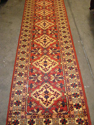PERSIAN CARPET RUG COLLECTABLE ANTIQUE DESIGN HALL WAY RUNNER KASHGAI 290X86 cm