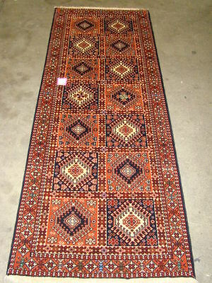 Persian Carpet Rug Collectable Antique Design Pure Wool Yalameh Hall Way Runner