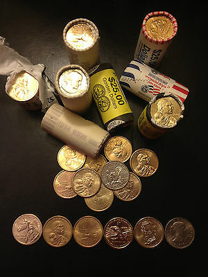 6 Set Susan B Anthony Sacagawea Native American Golden Dollars Presidential p d