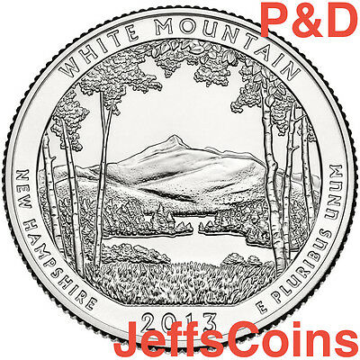 2013 P&D White Mountain NATIONAL FOREST COIN SET PD Quarter BUY 5 GET 1 SET FREE