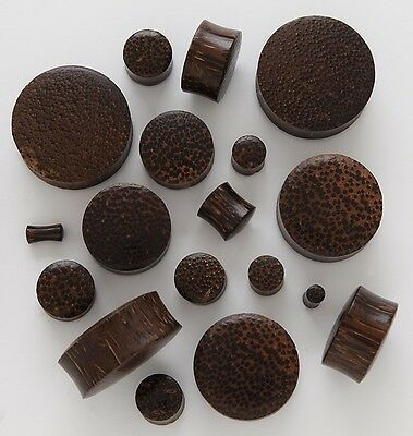 ONE Natural chocolate palm COCO Wood  light weight flesh tunnel plug stretcher