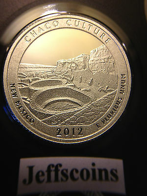 2012 S Mint Silver Proof CHACO CULTURE National Historic PARK QUARTER 90%Silver