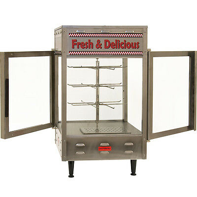 Rotating Heated Display Cabinet Food Warmer - Commercial Double Glass Door Case
