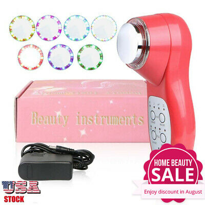 Ultrasonic Skin Care Face Lift Ultrasound Facial SPA Wrinkle Acne Remover Beauty