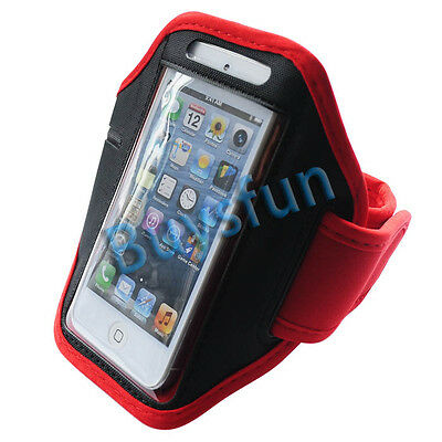 New Red Sport Gym Armband Cover Case for Apple iPod Touch 5 5G