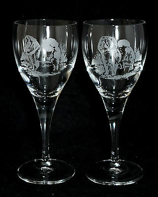 CHOW CHOW GIFT - Boxed PAIR WINE GLASS *DOG GIFT*