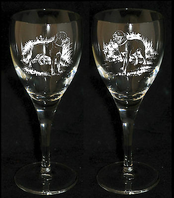 ROTTWEILER GIFT - Boxed  PAIR WINE GLASS *DOG GIFT*