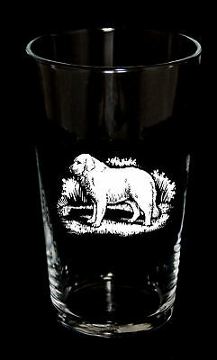 PINT BEER GLASS with PYRENEAN MOUNTAIN DOG *Dog Gift*