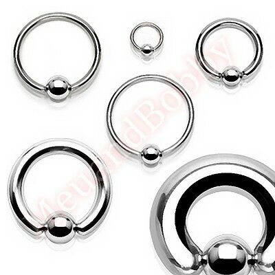 316L Surgical Steel Captive Bar Ring Hoop Body Piercing Jewellery