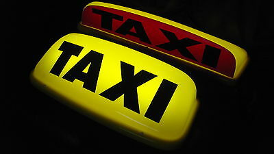 """Taxi Roof Sign Yellow 18"""" Led's Aerodynamic Taxi Meter Topsign Magnet Roof Light"""