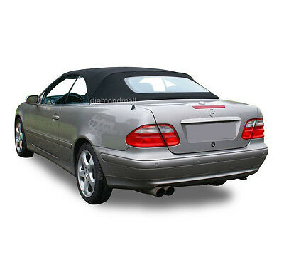 NEW Mercedes Benz CLK Series 1999-2003 Convertible Soft Top Black Stayfast Cloth