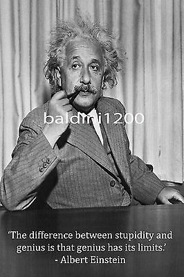 Albert Einstein - Beautiful Poster  Print With Quote - Looks Awesome Framed