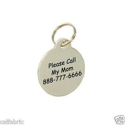 LARGE Custom Engraved Stainless Steel Dog Tag Cat Tag Pet ID Name Tag