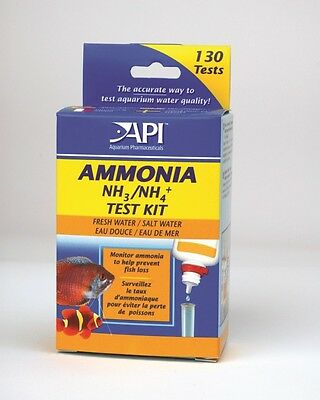 Api Liquid Ammonia Test Kit Nh3 / Nh4  130 Tests Per Kit Fish Tank Tests Kit