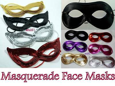 Black Masquerade Domino Sequin Face Eye Mask Costume Hen Party Fancy Dress New