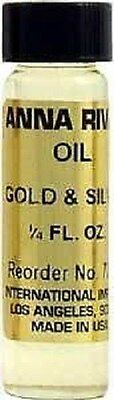 One bottle Anna Riva Gold and Silver Oil, 2 dram (1/4 oz.) ~ Magick Wicca Pagan